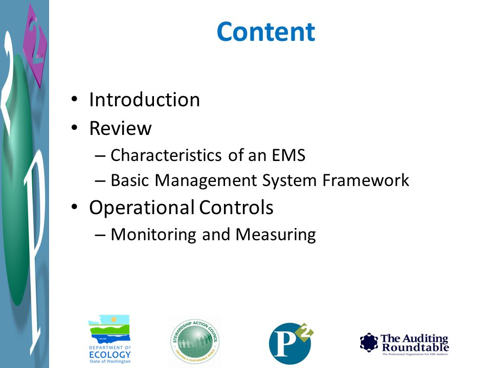 Content Introduction Review Operational Controls