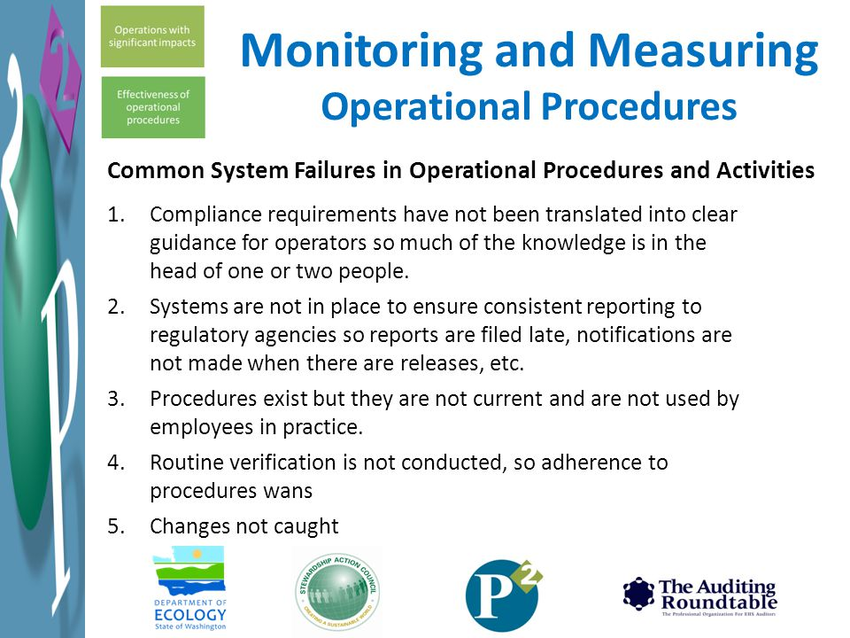 Monitoring and Measuring Operational Procedures