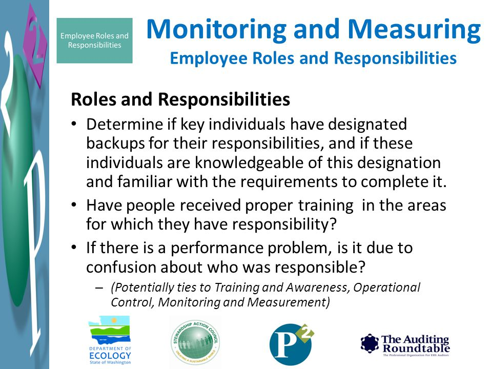 Monitoring and Measuring Employee Roles and Responsibilities