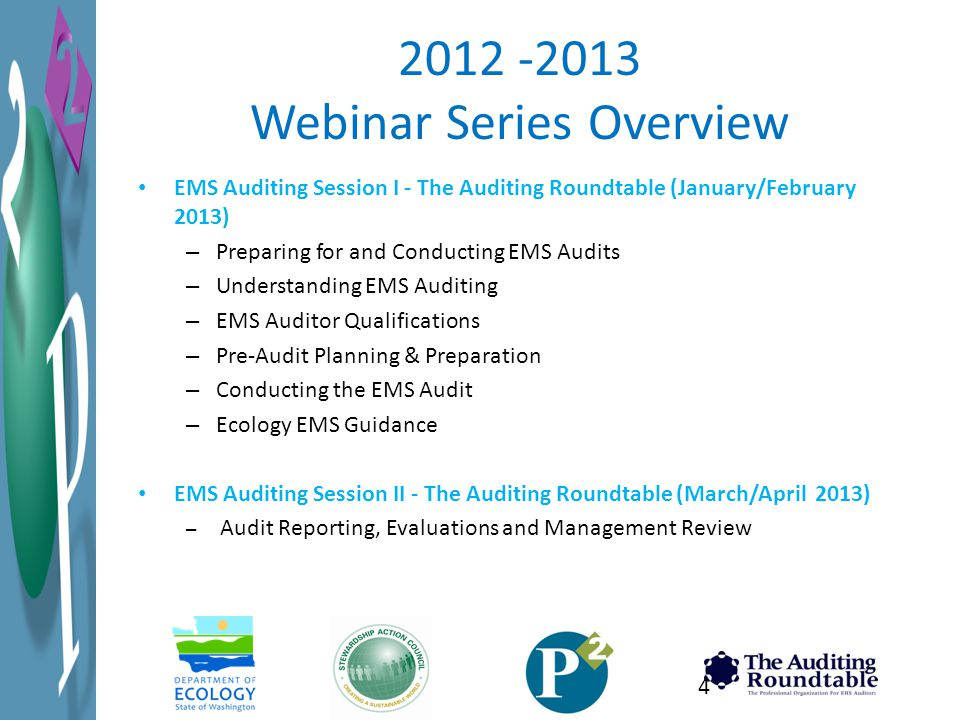 2012 -2013 Webinar Series Overview