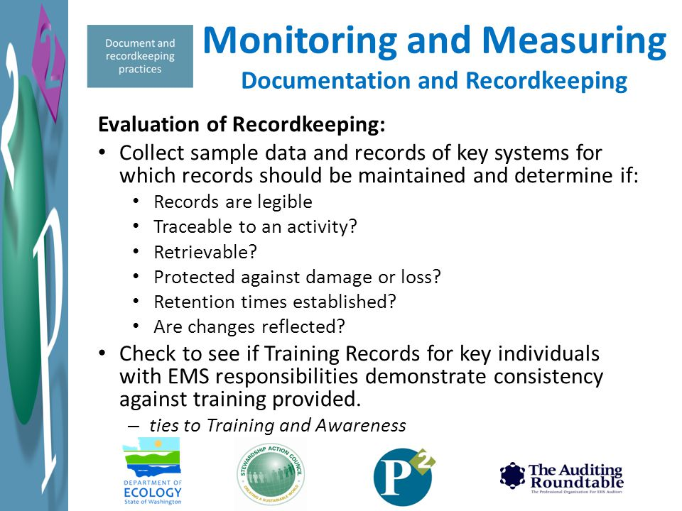 Monitoring and Measuring Documentation and Recordkeeping