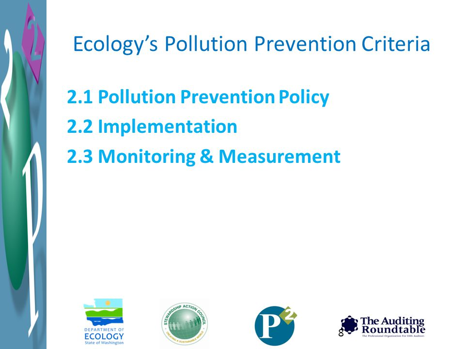 Ecology's Pollution Prevention Criteria