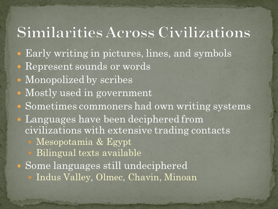 Similarities Across Civilizations