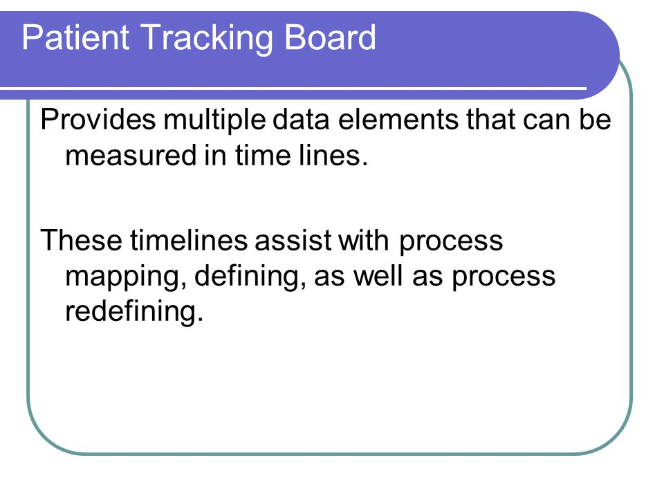 Patient Tracking Board