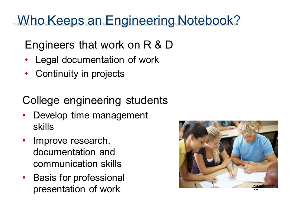 Who Keeps an Engineering Notebook