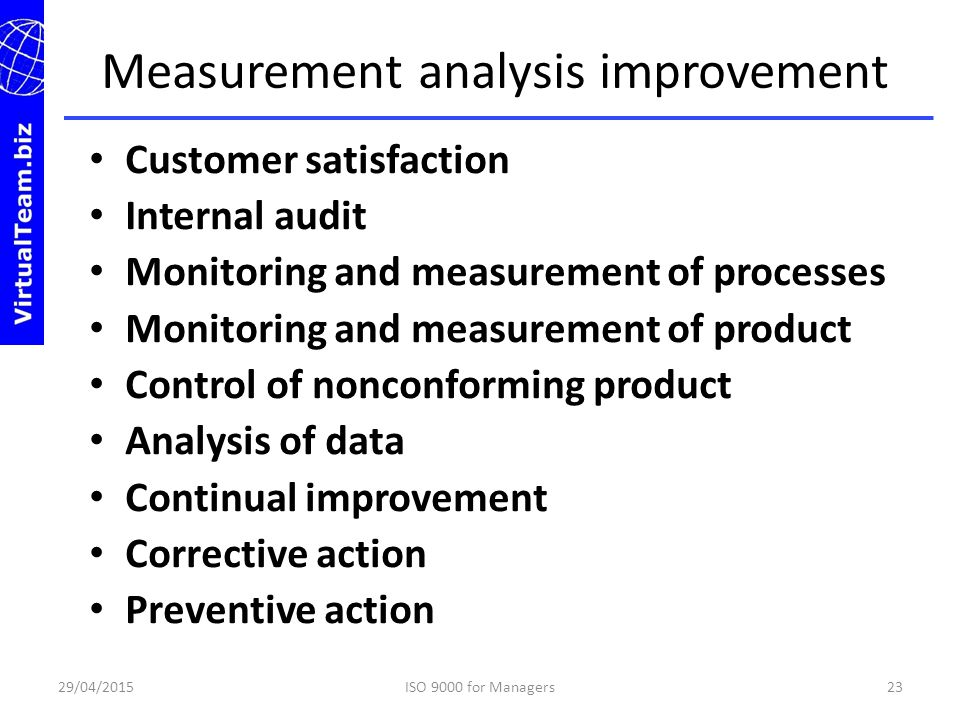 Measurement analysis improvement
