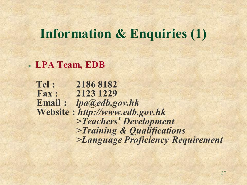 Information & Enquiries (1)