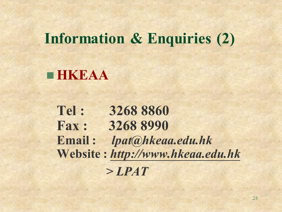 Information & Enquiries (2)