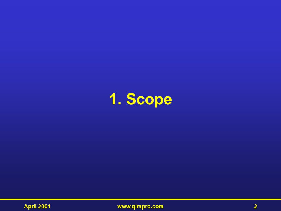 1. Scope April