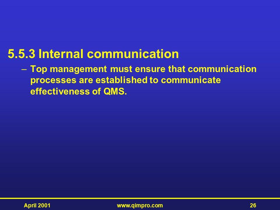 5.5.3 Internal communication