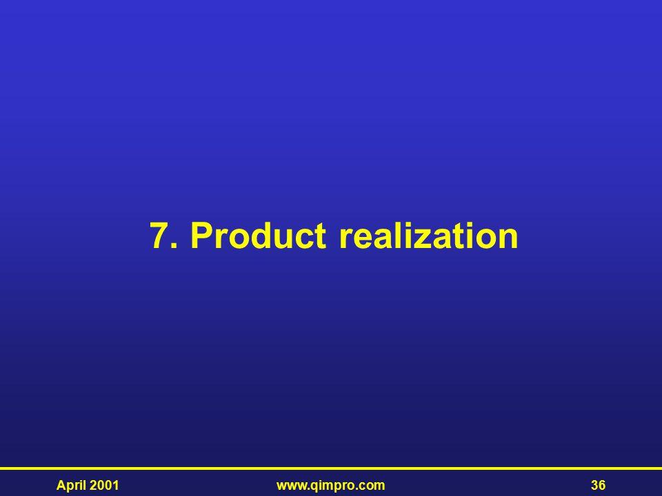 7. Product realization April 2001 www.qimpro.com