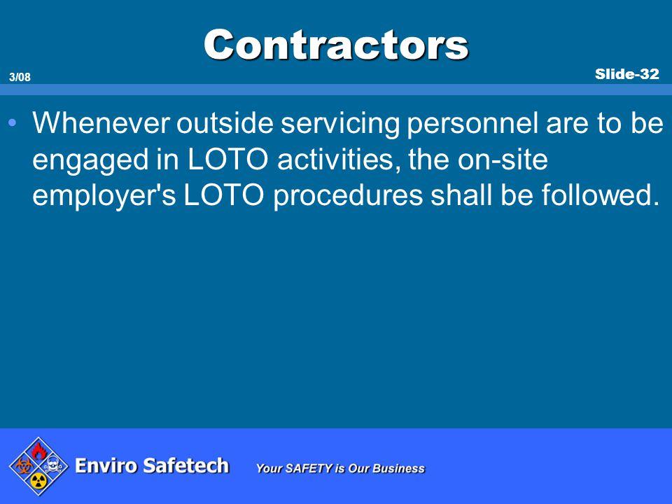 * 07/16/96. Contractors.