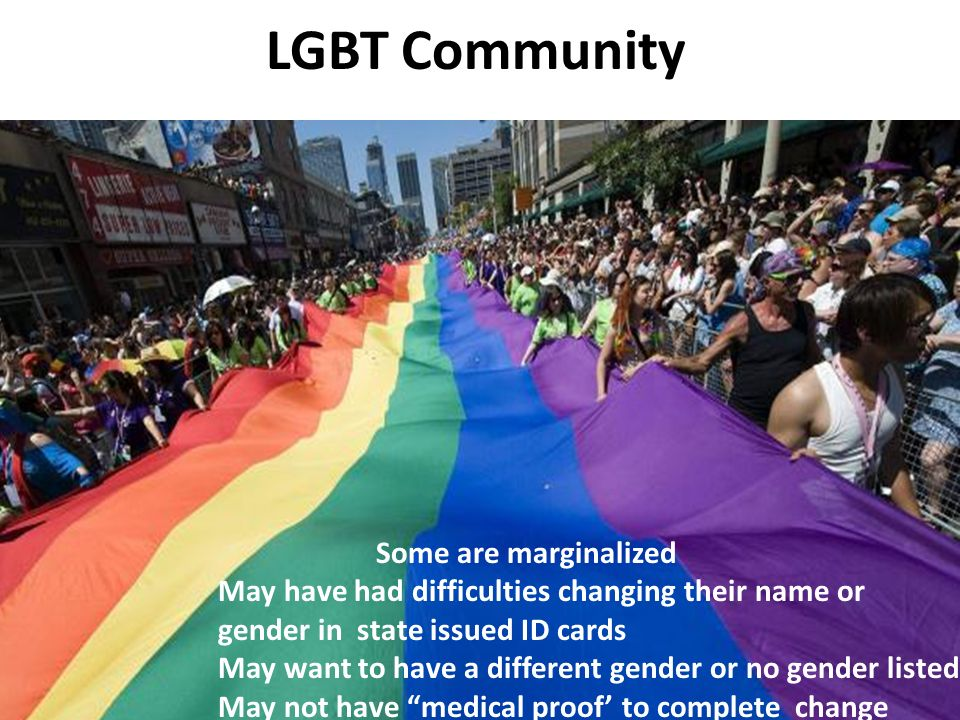 LGBT Community Some are marginalized