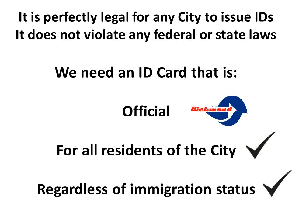 Can Cities provide ID Cards