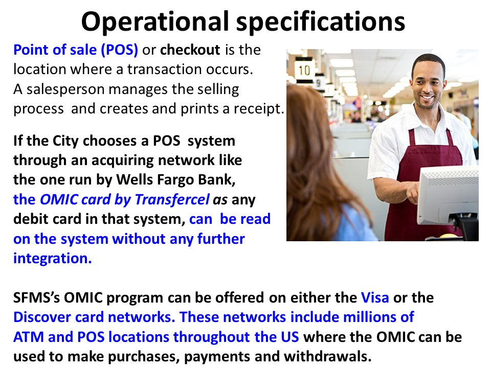 Operational specifications