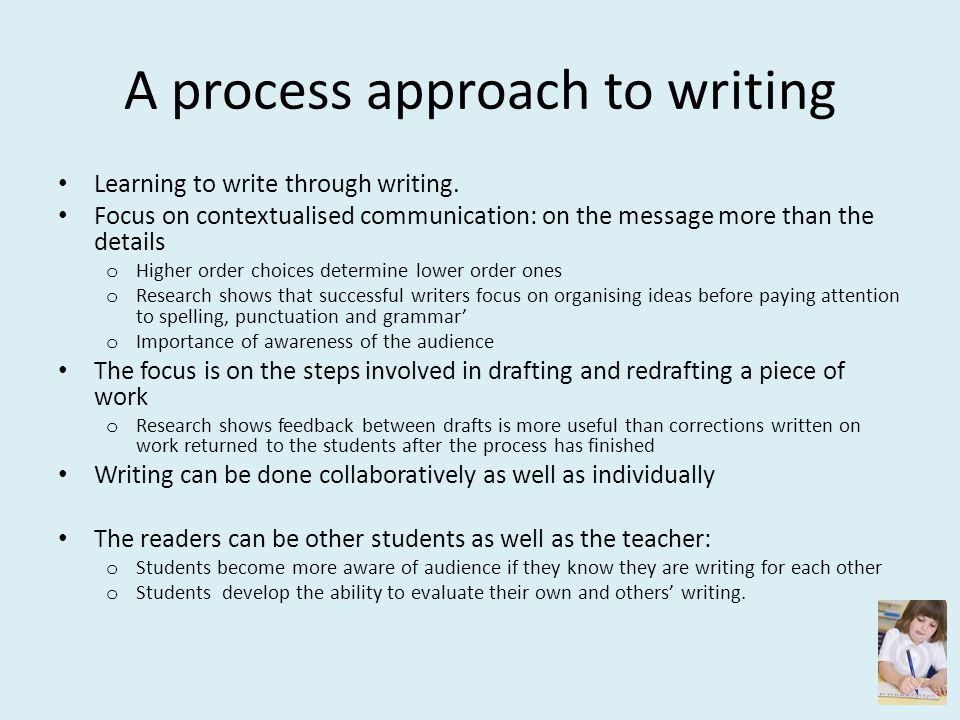 A process approach to writing