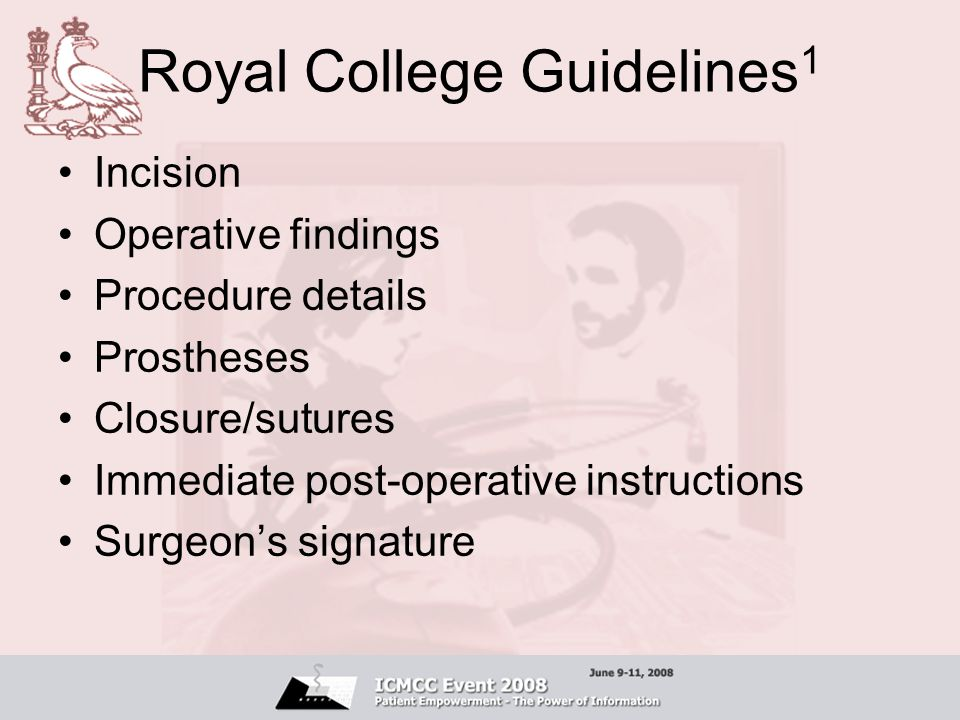 Royal College Guidelines1