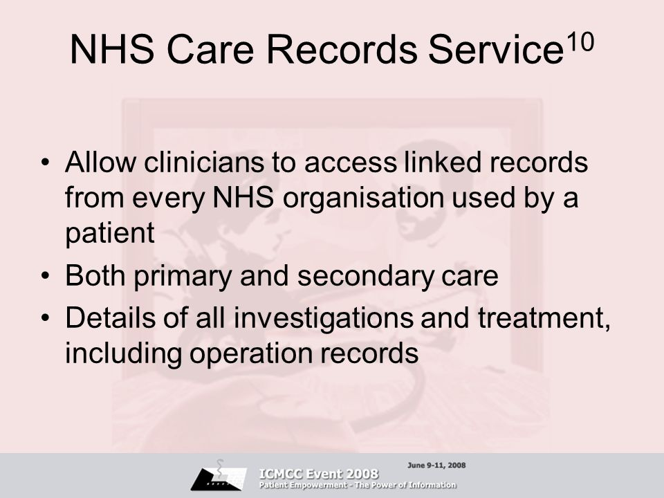 NHS Care Records Service10