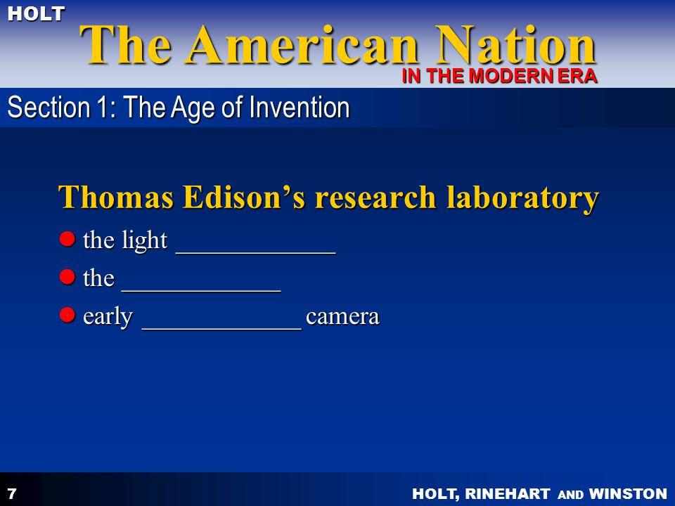 Thomas Edison's research laboratory