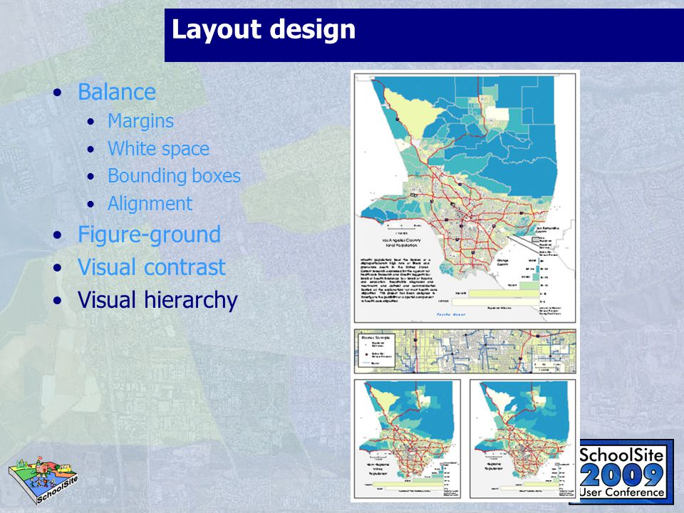 Layout design Balance Figure-ground Visual contrast Visual hierarchy