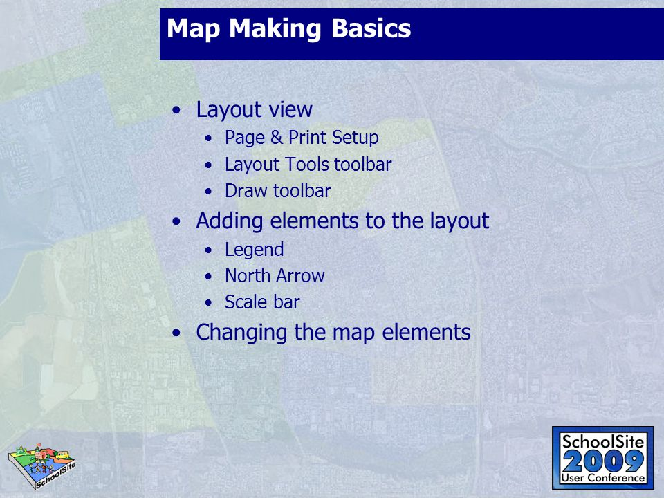 Map Making Basics Layout view Adding elements to the layout
