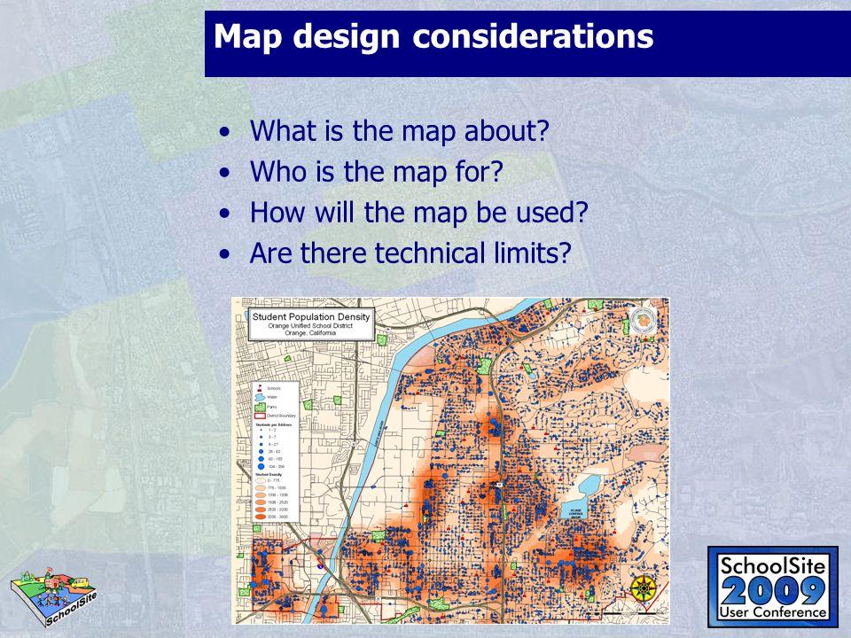 Map design considerations