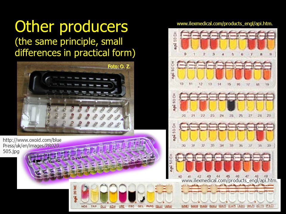 Other producers (the same principle, small differences in practical form)
