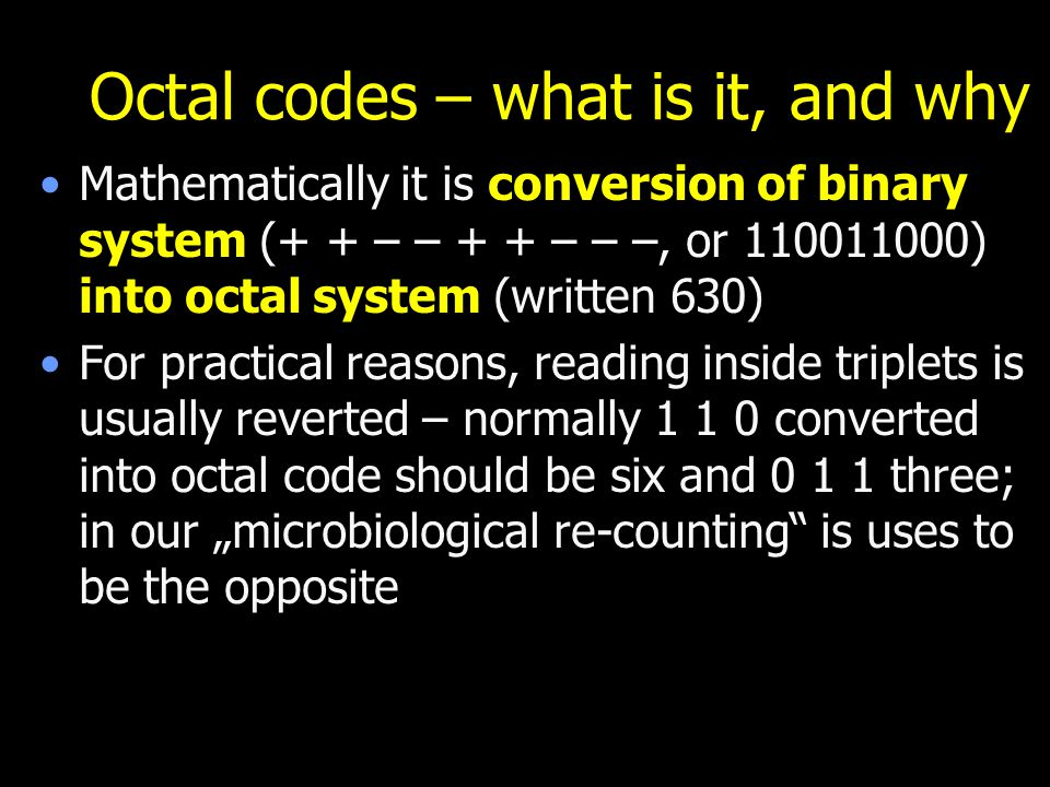 Octal codes – what is it, and why