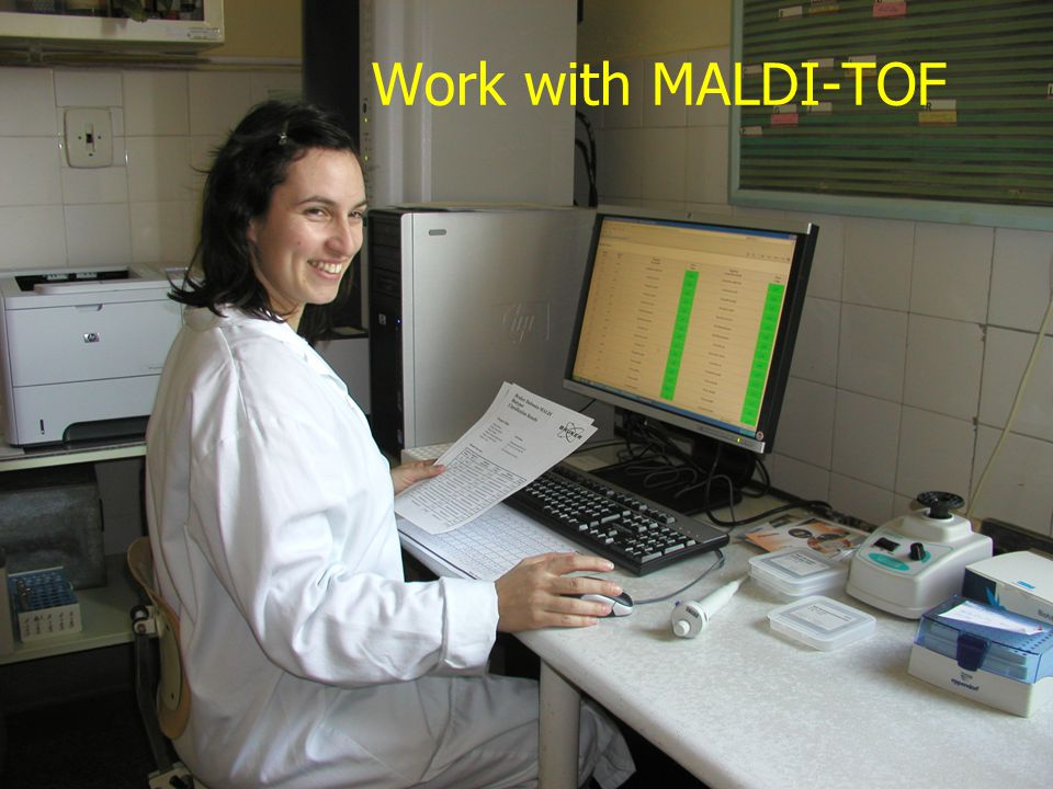 Work with MALDI-TOF