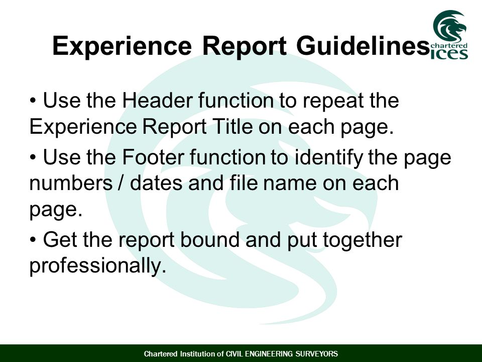 Experience Report Guidelines