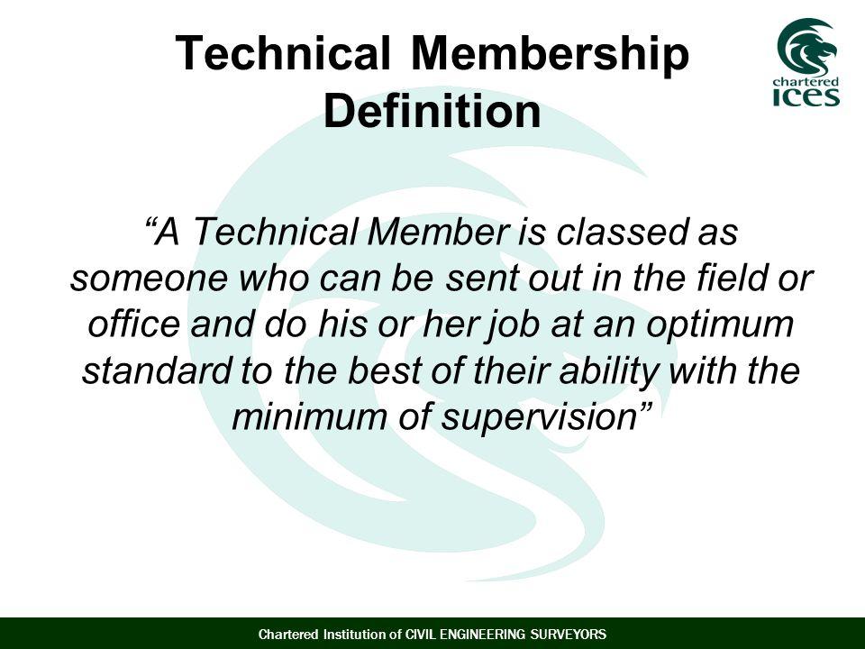 Technical Membership Definition