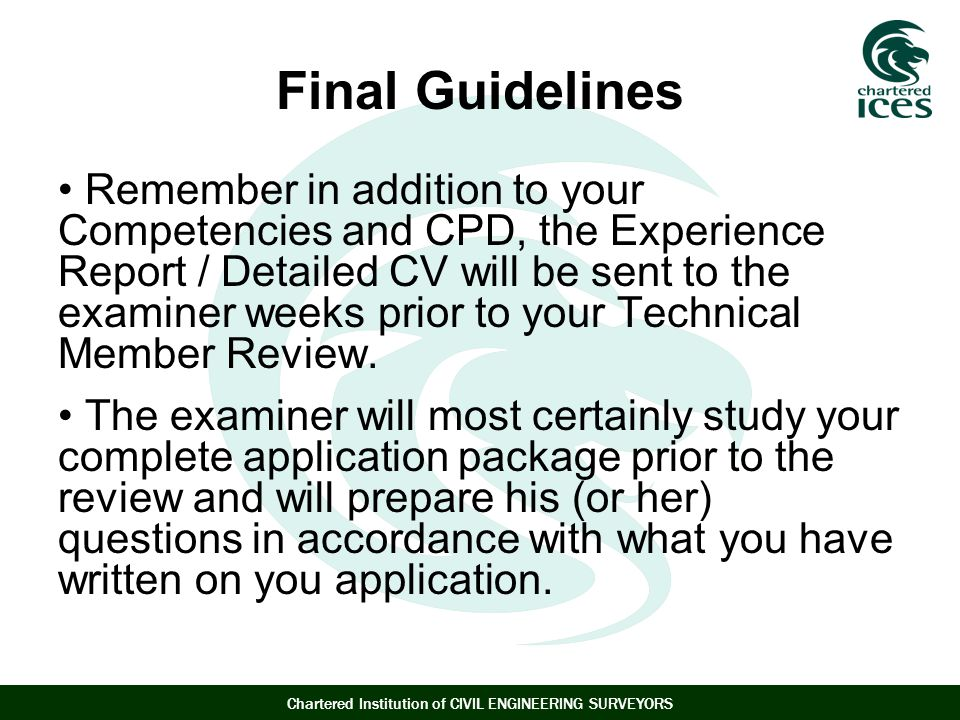 Final Guidelines