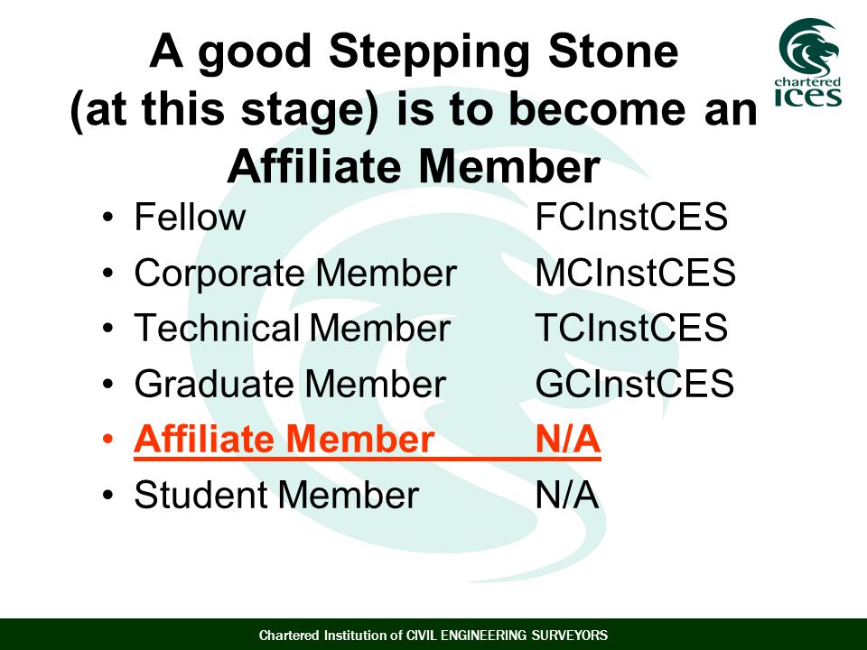 A good Stepping Stone (at this stage) is to become an Affiliate Member