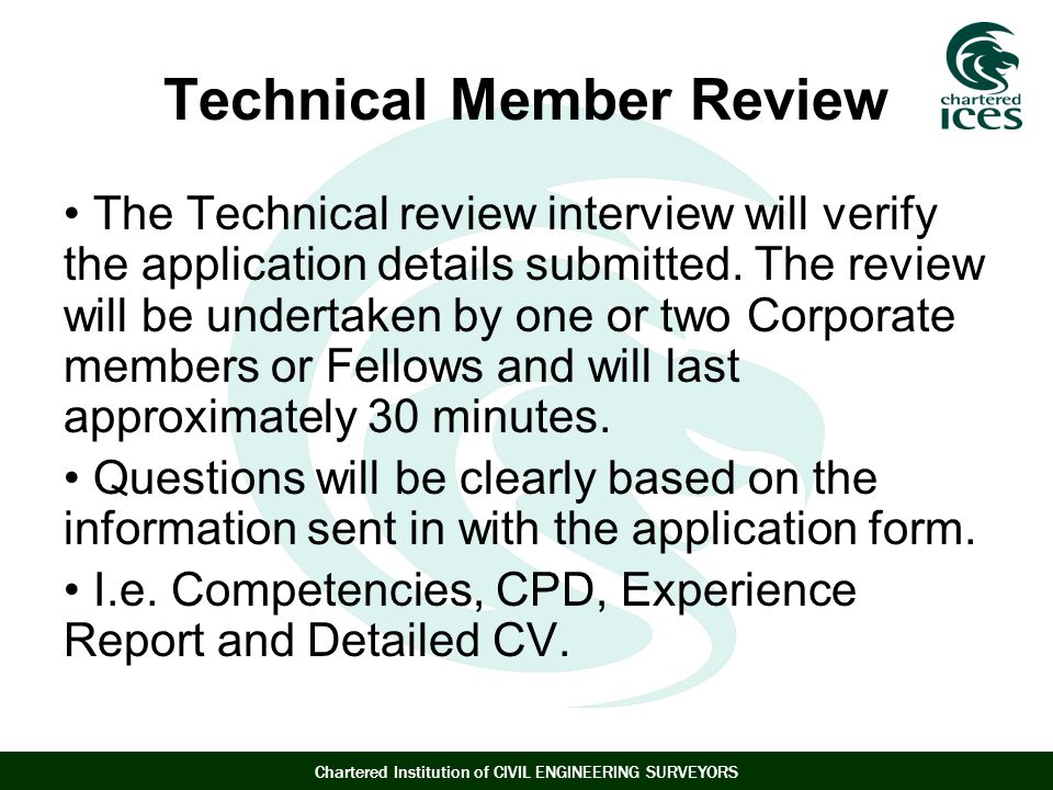 Technical Member Review