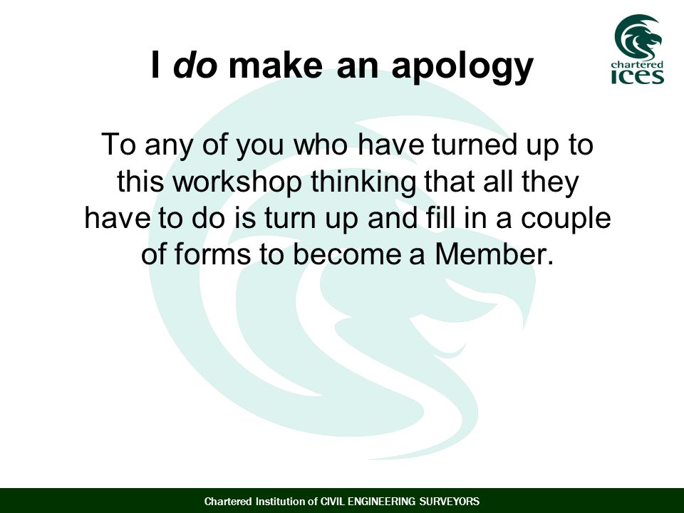 I do make an apology