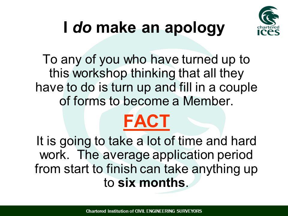 FACT I do make an apology