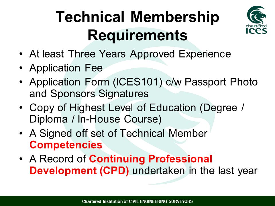 Technical Membership Requirements