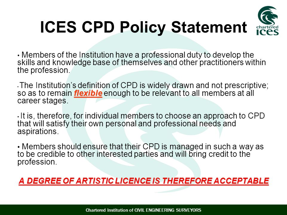 ICES CPD Policy Statement