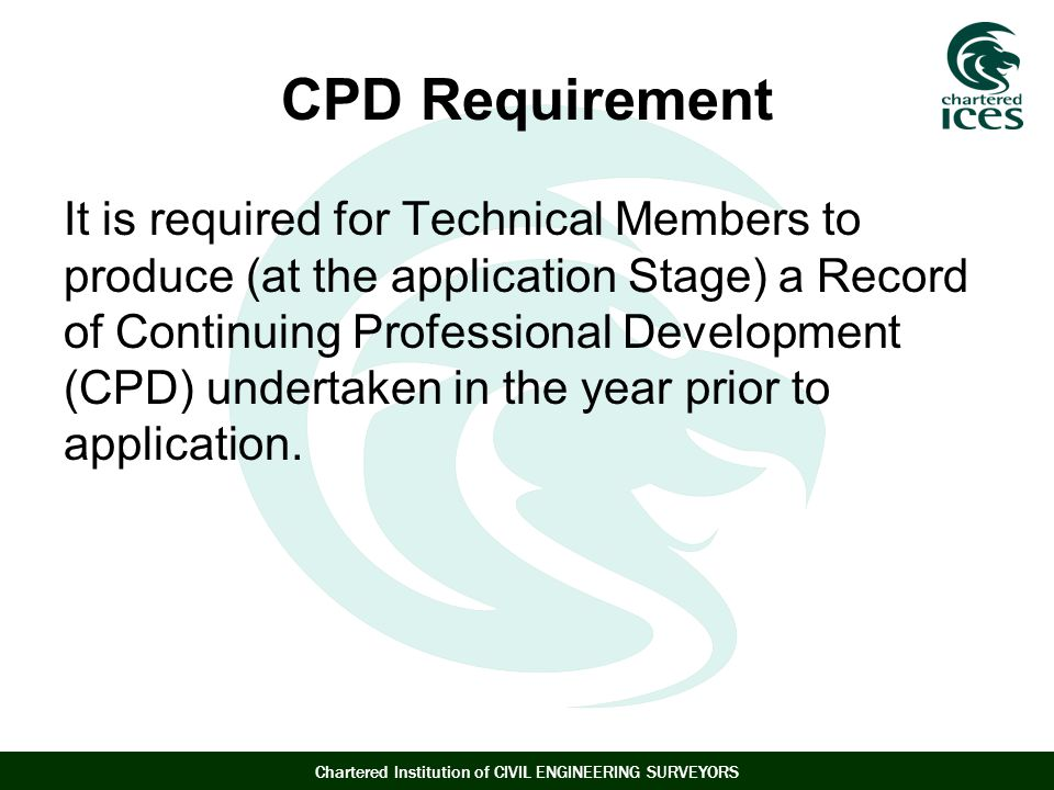 CPD Requirement
