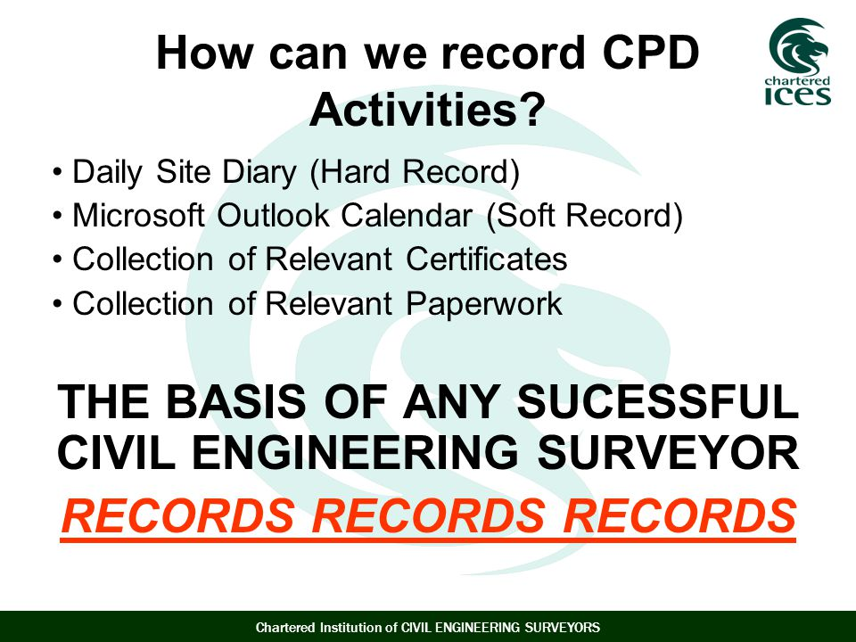 How can we record CPD Activities