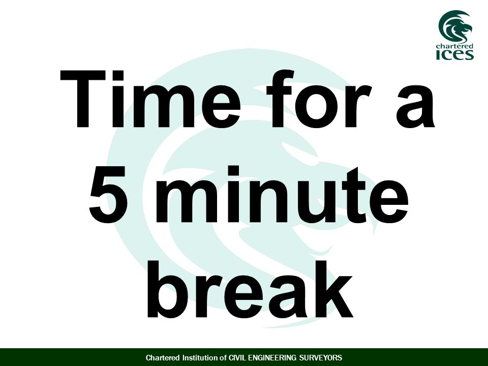 Time for a 5 minute break