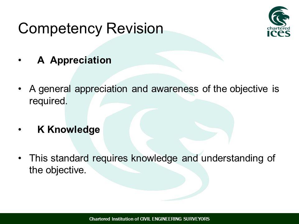 Competency Revision A Appreciation