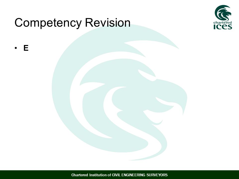 Competency Revision E