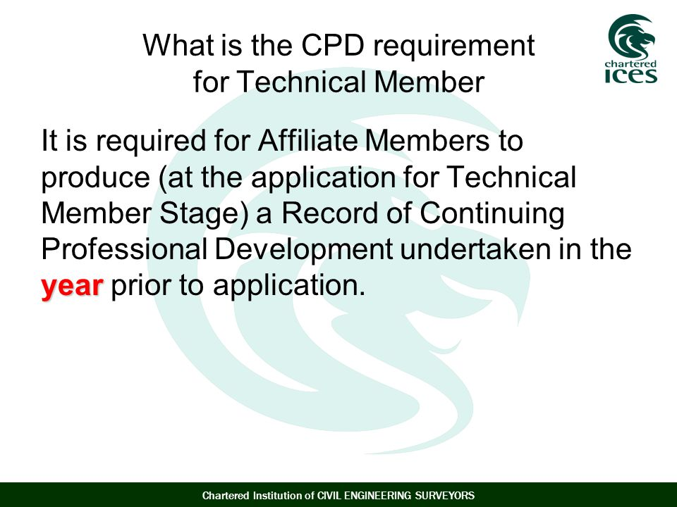 What is the CPD requirement for Technical Member