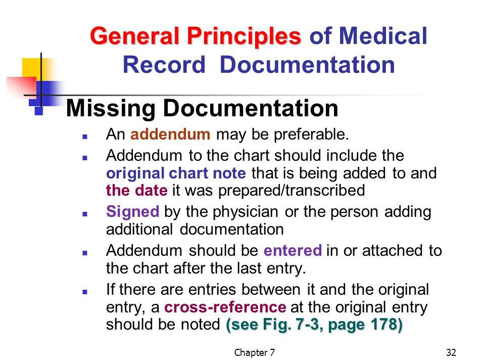 General Principles of Medical Record Documentation