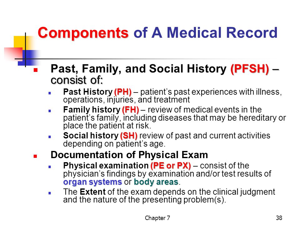 Components of A Medical Record
