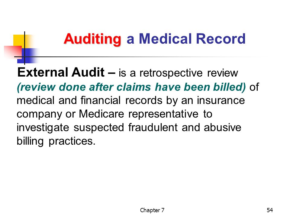 Auditing a Medical Record