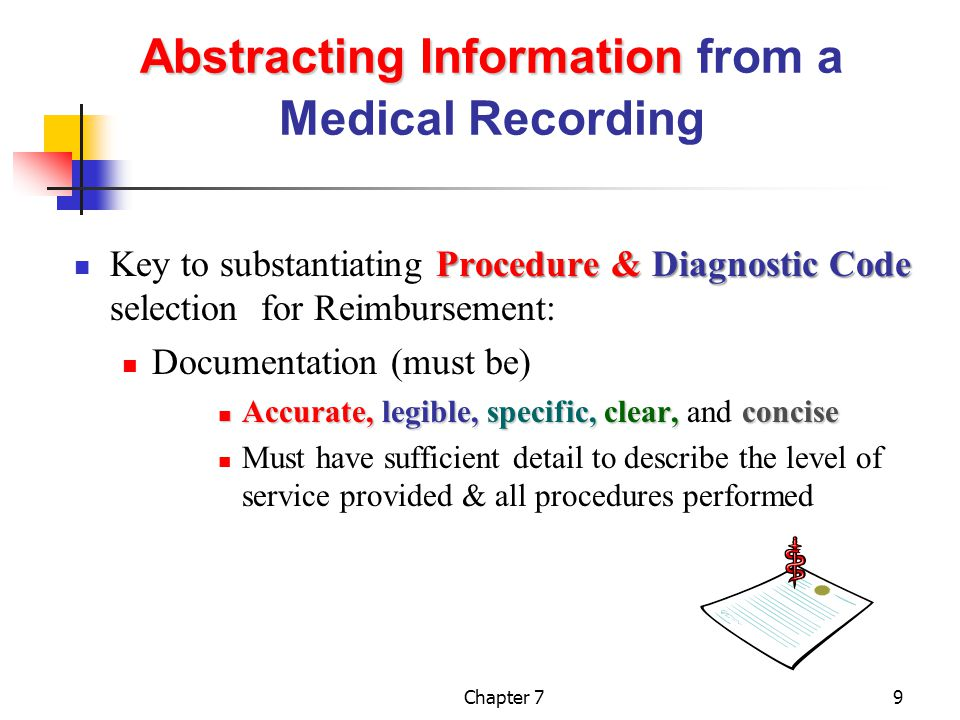 Abstracting Information from a Medical Recording