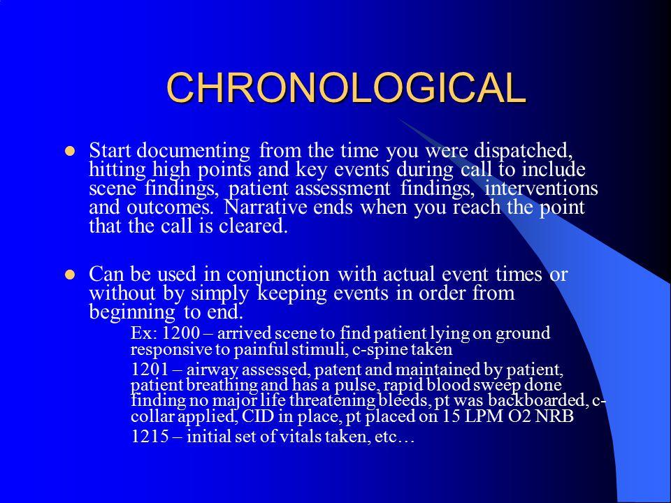 CHRONOLOGICAL