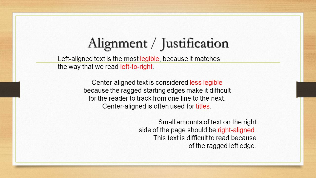 Alignment / Justification